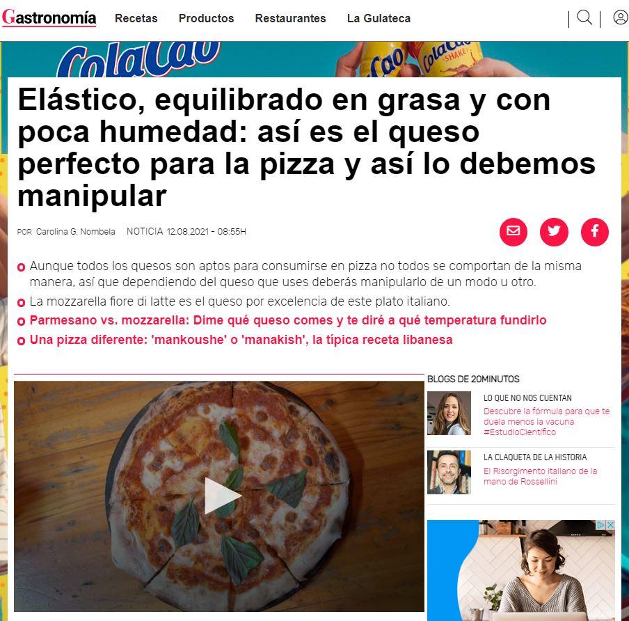 elegir queso para pizza